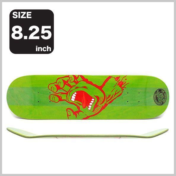 【楽天市場】SANTA CRUZ DECK(サンタクルーズ)デッキTEAMステインドハンド・GREEN / RED・8.25(スケートボード)(スケボー)(SKATEBOARD):スケートボードのCALIFORNIASTREET