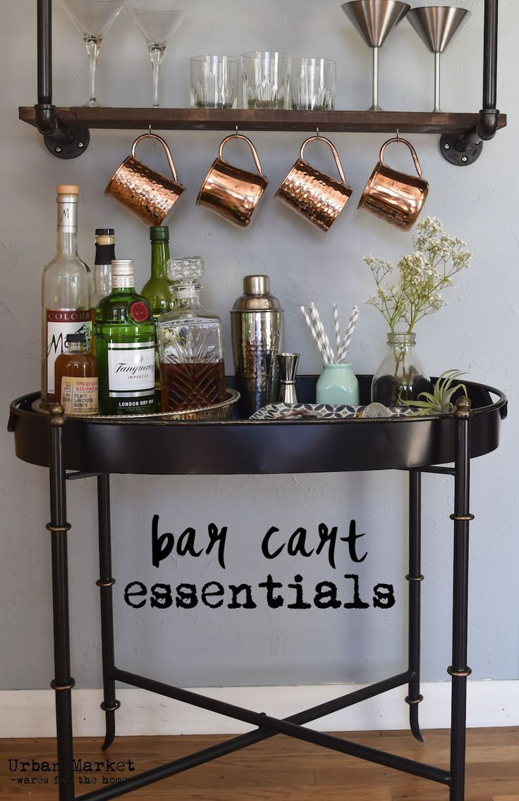 Bar cart essentials. From tools to accessories, everything you need to make  a beautiful