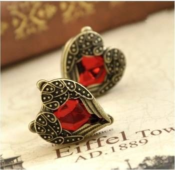 Bohemian Heart Stud Earrings