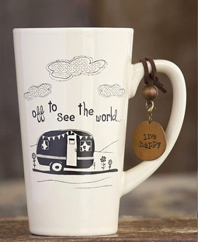 Off To See The World Mug. I'm not sure what I love more, the mug or the charm!
