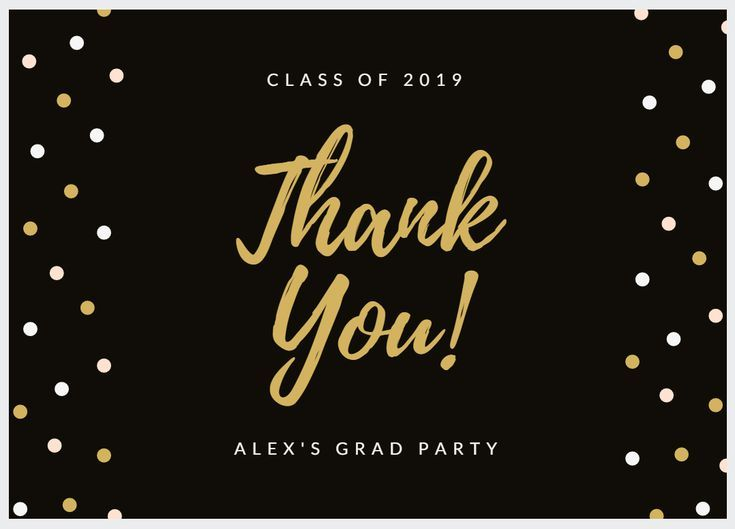 7 Free Printable Graduation Thank You Cards Black And Gold From Canva Thank You Card Sayings Graduation Thank You Cards Thank You Mom