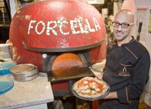 Forcella 485 Lorimer St New York, NY 11211  Food Paradise  On Travel Channel Original Aired On 02/27/2013 Episode: Deep Fried Paradise 3  Forcella has taken the New York pizza scene by storm with a menu that includes fried pizza, fried calzones, fried desserts and a small selection of fried appetizers.  Pizza Cuz / Pizza Masters Pizza Cuz / Pizza Masters  On Cooking Channel Original Aired On 05/27/2013 Episode: Toppings  Carbonara style pizza