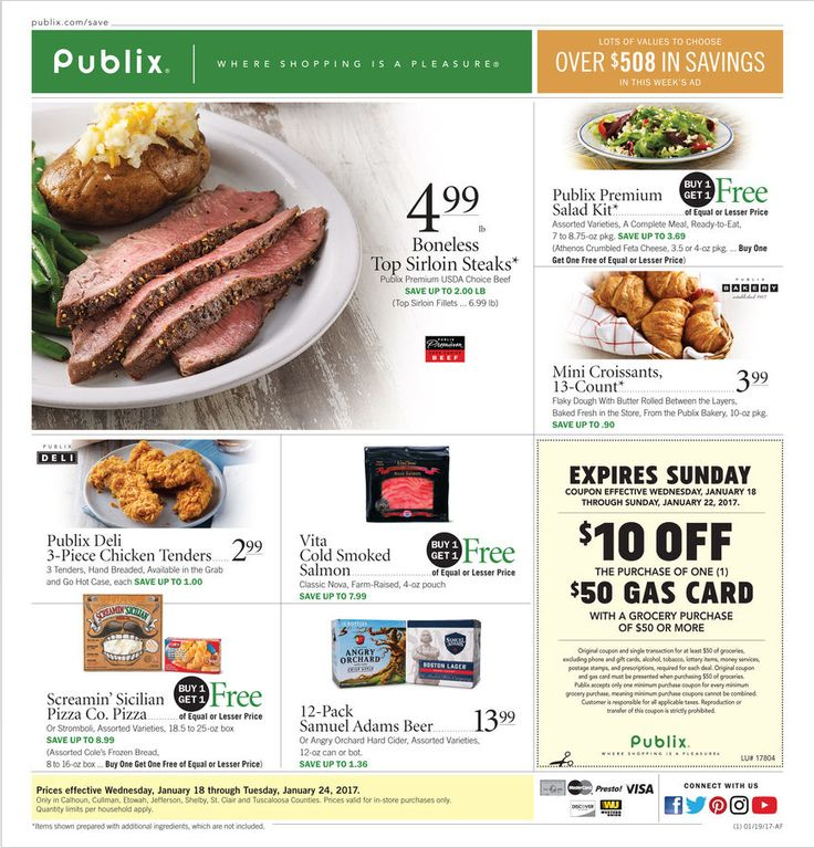 Publix Weekly Ad January 18 - 24, 2017 - http://www.olcatalog.com/grocery/publix-weekly-ad.html