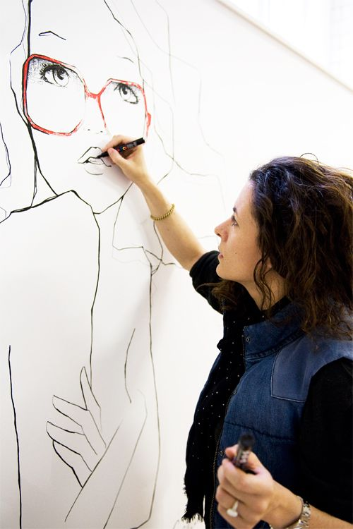 ★: Wall Art, Line Drawings, Artists, Red Glasses, Inspiration, Garance Doré, Garanc Doré, Garanc Dore, Fashion Illustrations