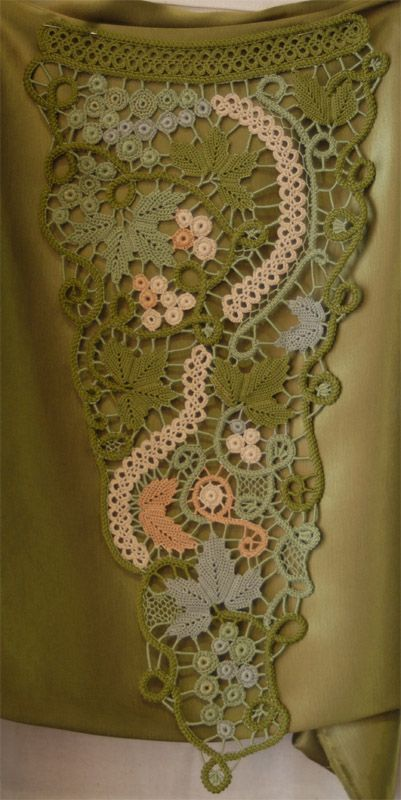 Freeform~ Romanian Point Lace and for more, see this board: http://www.pinterest.com/tottiehoekom/freeform-crochet/