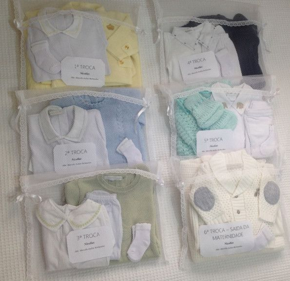 Como separar as roupinhas na mala de maternidade