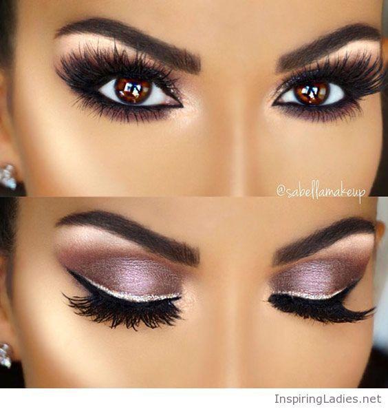 Amazing pinky eye makeup for brown eyes   Inspiring Ladies ... - photo#30