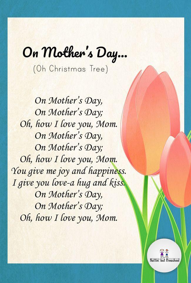 On Mother's Day Children's Song   Preschool mothers day songs, Mother's day theme, Mothers day crafts preschool