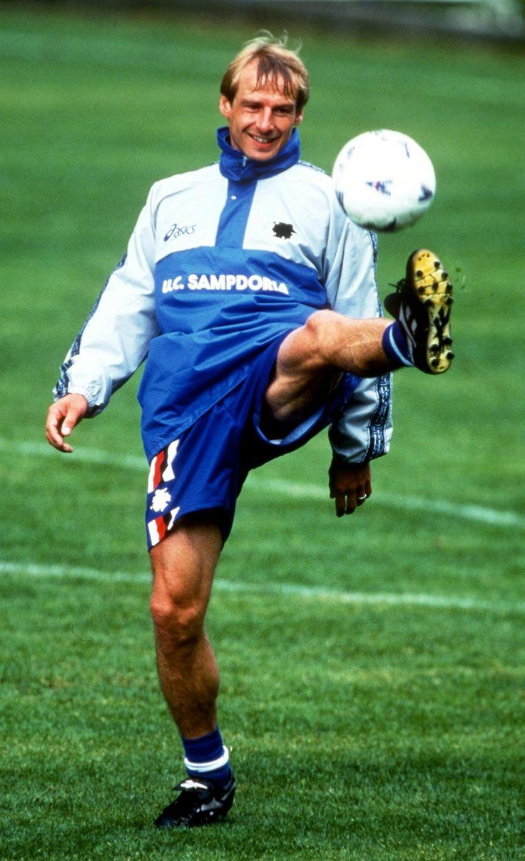 Jurgen Klinsmann (Sampdoria Genes) Football Pinterest