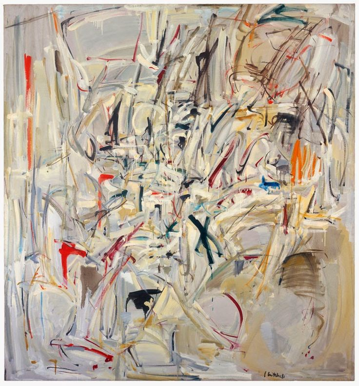Joan Mitchell. This seems to be a mix of emotion and blurry motion.