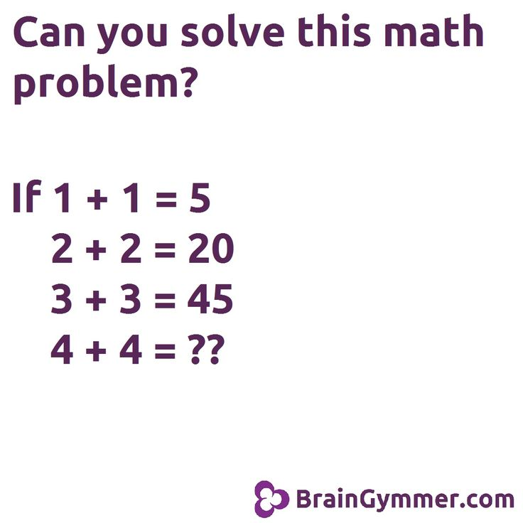 Can you solve this math problem?   School   Pinterest   Math, Brain ...