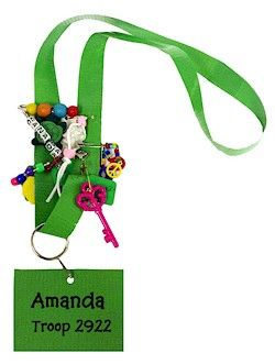 Duct Tape Lanyards are perfect Girl Scout SWAP Holders.  This simple craft can be customized to fit any event or holiday.  Includes instructions and supply list.  www.makingfriends.com