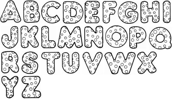 El abecedario en moldes de letras - Imagui