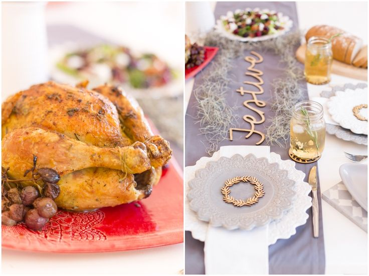 Rosemary Roasted Chicken with roasted grapes | Festive Table | I Love Pretoria
