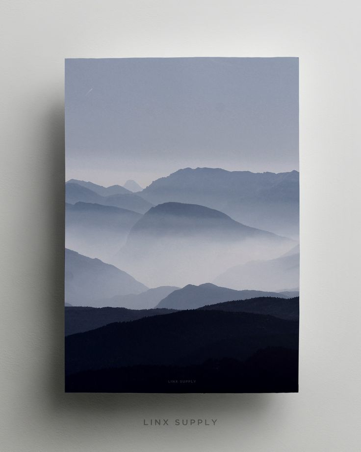 Misty Mountains Poster by Linx Supply