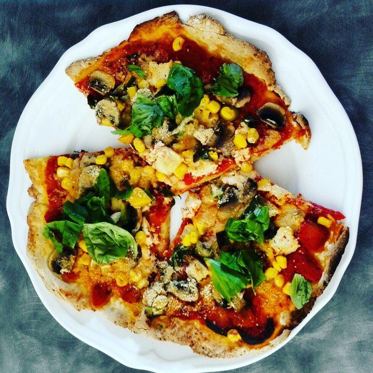 Vegan pizza#gluten free#