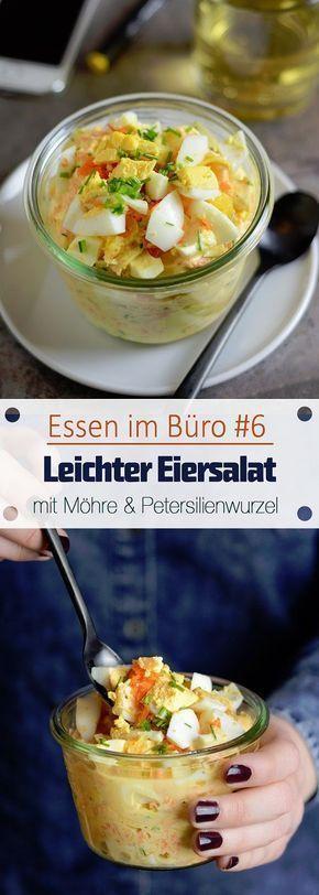 Essen im Büro #6 - Leichter Eiersalat mit Möhre und Petersilienwurzel