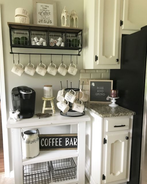 Elegant Home Coffee Bar Design And Decor Ideas 1480