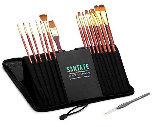 Santa Fe Art Supply Artist Paintbrush Set Paintbrush Set Santa