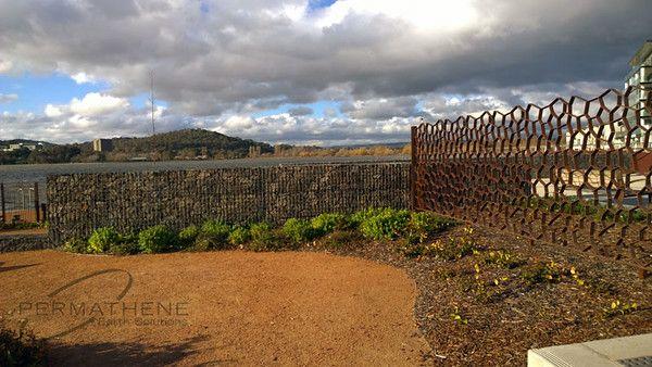 Gabion Kingston Foreshore Canberra - permathene