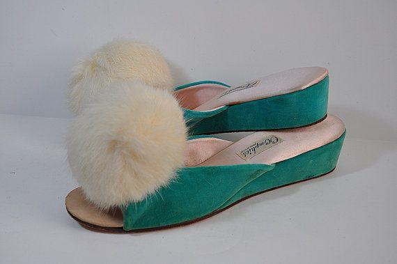 73 best heel slippers images on pinterest shoes - Ladies bedroom slippers with heel ...