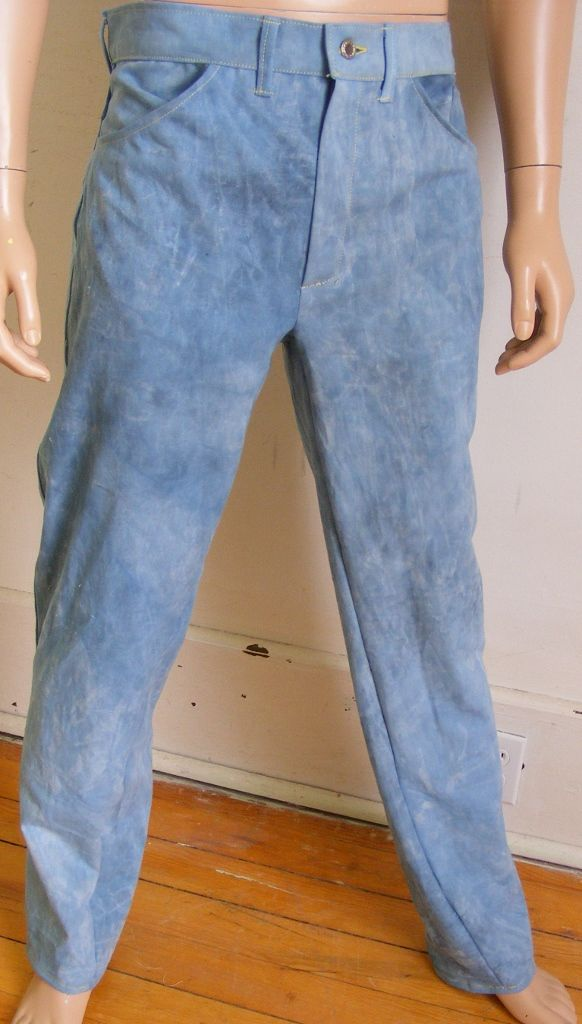 Hermans Eco US Grown Organic Cotton hand dyed Pants Jeans 36 X 32 Blue YSOn2P