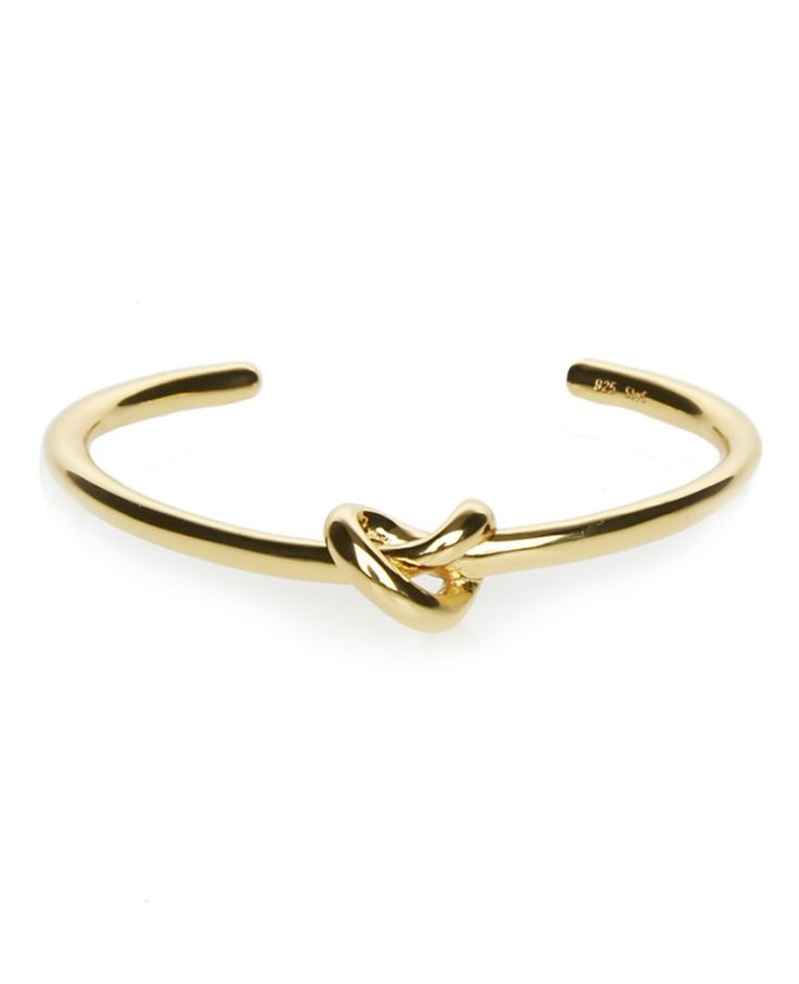 Knot Cuff Armreif Gold by Sophie by Sophie | http://www.dsq206.com/brand/sophie-by-sophie/alles/sophie-by-sophie/4795/knot-cuff-armreif-gold