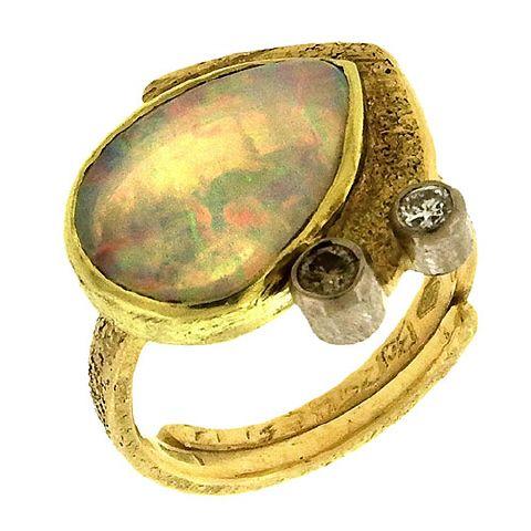 Marco Borghesi: Lightning Ridge Opal Ring