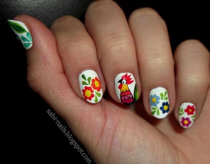 Nailpolis Museum of Nail Art | Polish folk by Sabina. Too adorable!