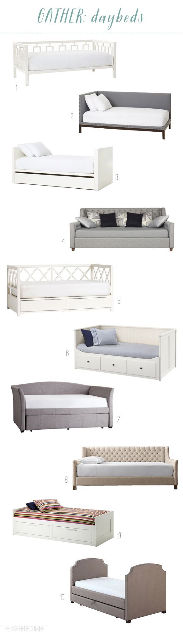Daybed Round Up - The Inspired Room blog:
