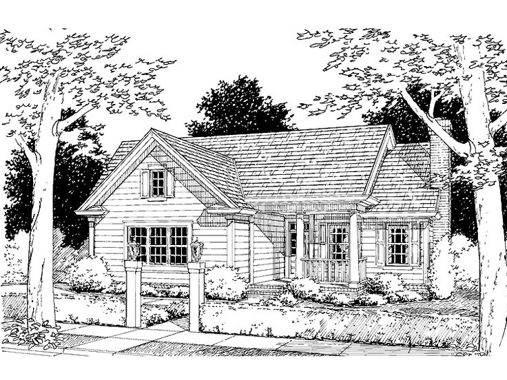 Eplans cottage house plan absolutely love this layout No basement house plans