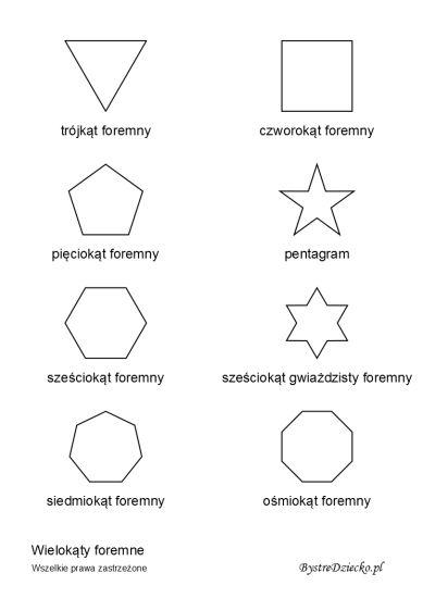 figury geometryczne 4 klasa sprawdzian pdf