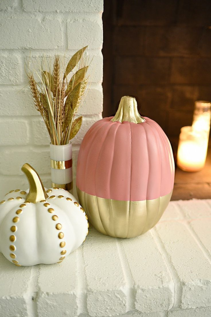 orange and white pumpkin decoration in more than 20 creative ideas