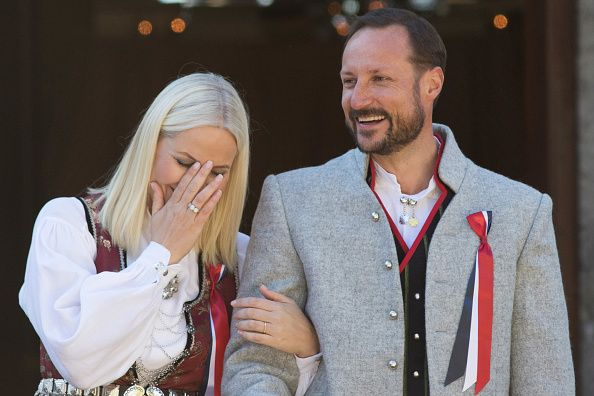 Crown Prince Haakon and Crown Princess Mette-Marit of Norway, Prince Sverre Magnus, Princess Ingrid Alexandra of Norway celebrate Norway National Day on May 17, 2016 in Asker, Norway.