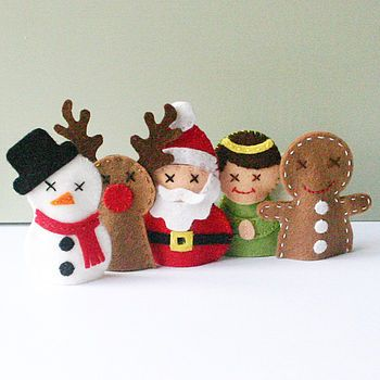 Christmas Friends Finger Puppet Sewing Kit