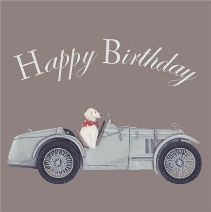 Happy Birthday (Car) Greetings Card