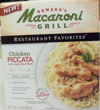 Macaroni Grill Chicken Piccata With Angel Hair Pasta From Box