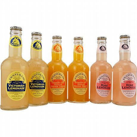 Fentimans Mandarin & Seville Orange Jigger, Bright Victorian Lemonade, and Elegant Rose Lemonade Summer Sodas