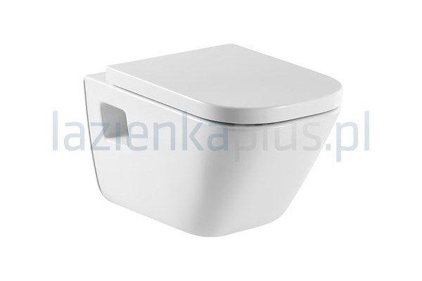 Zestaw miska WC wisząca z deską wolnoopadającą Roca Gap (A346477000, A801472004) - Lazienkaplus.pl