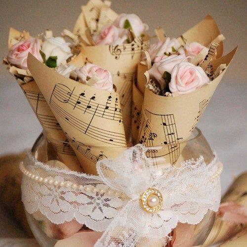 mariage musique fleurs