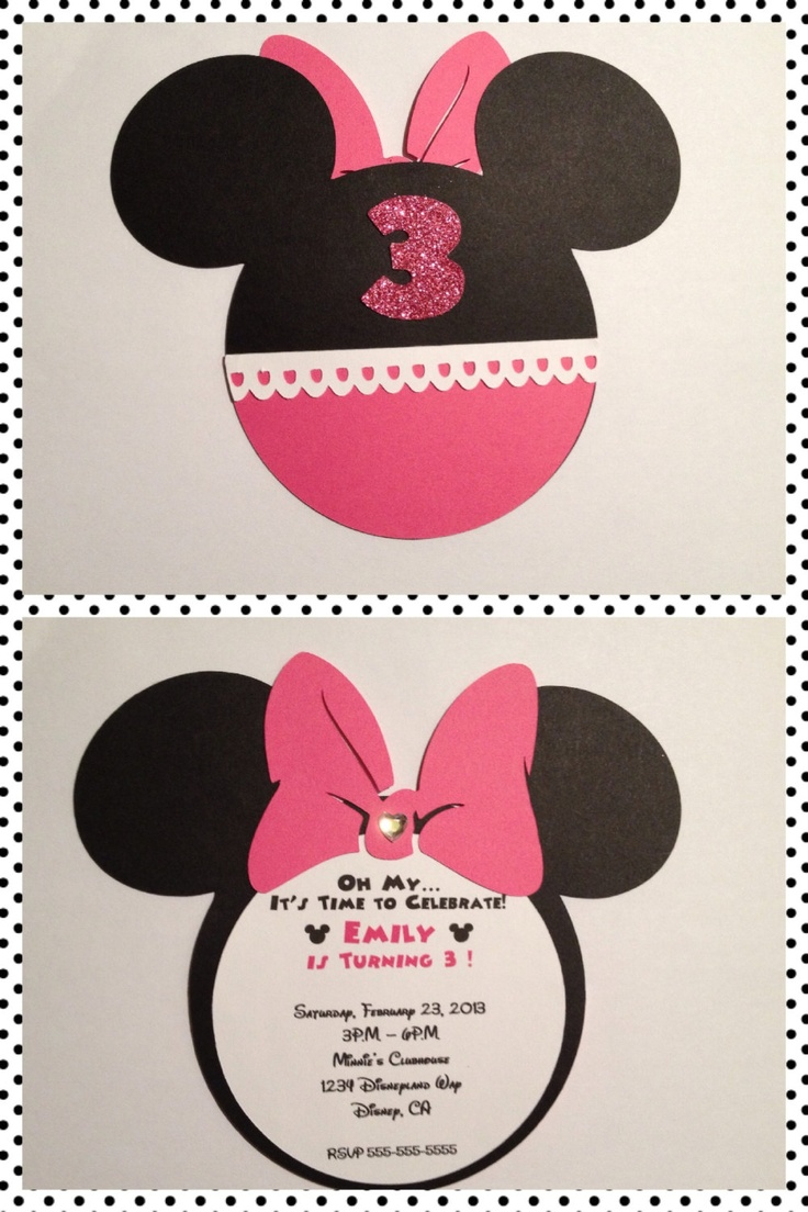 Minnie Mouse Invitations 15 by lovepapercrftz on Etsy