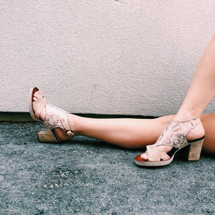Candy coloured block print heels