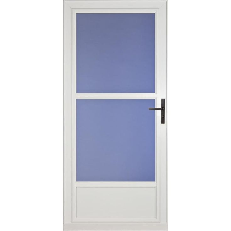 Larson Savannah White Mid View Wood Core Storm Door With