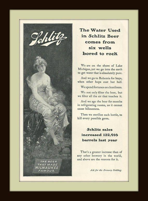 1903 Schlitz Beer  Vintage Magazine Ad  Alcohol  Liquor