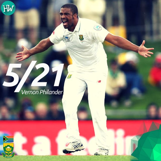 South Africa ambushed the Australians and routed them for a mere 85 runs, courtesy Vernon Philander! #AUSvSA #AUS #SA #cricket