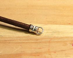 Using a Leather Cord Crimp End  Using crimp cord ends is the easiest way to include leather cord into your designs. #Beading #Jewelry #Tutorial
