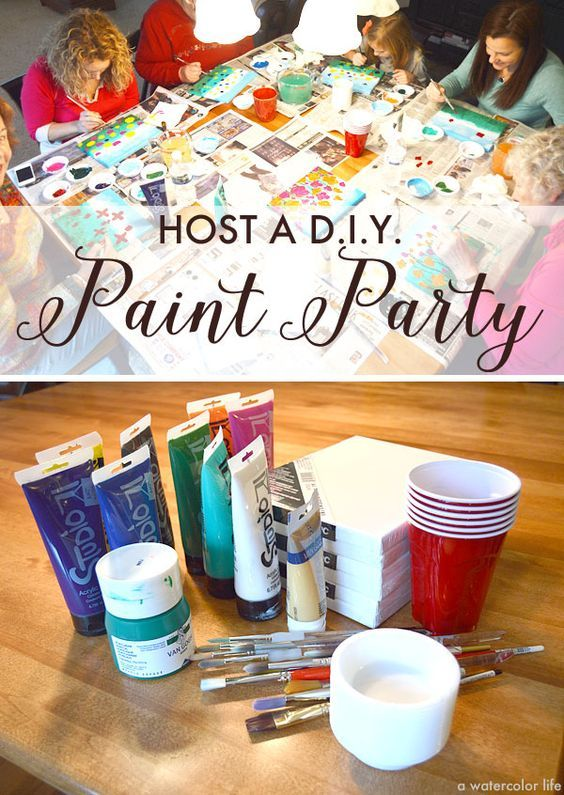 How to host a D.I.Y. art painting party - www.mospensstudio.com