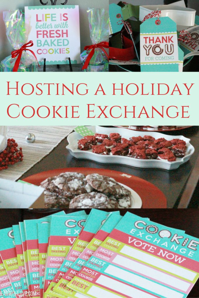 Want to host a cookie exchange?  Here are some easy entertaining tips to make your cookie exchange fun, easy and delicious!