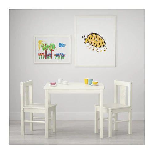 Kritter Children S Table White 59x50 Cm Childrens