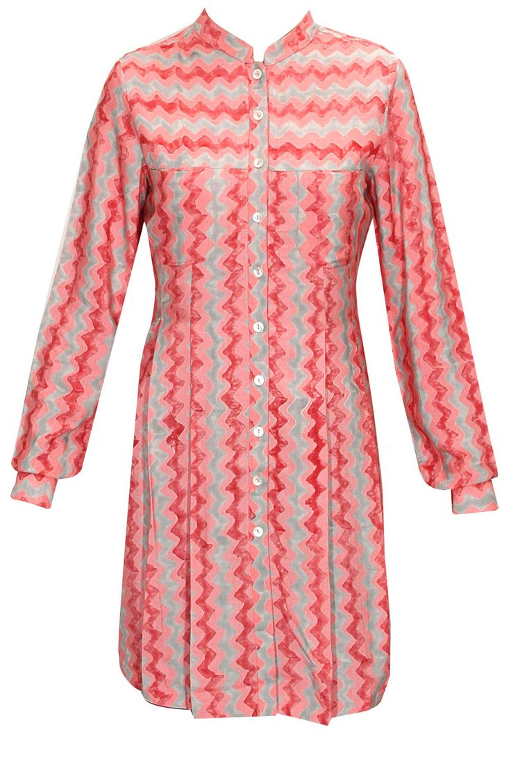 Peach zig zag print tunic available only at Pernia's Pop-Up Shop.